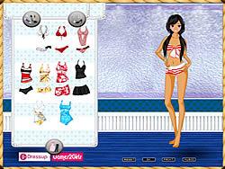 Играть бесплатно в игру Beach Girl Dressup