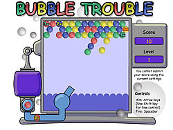 The Bubble Trouble Game