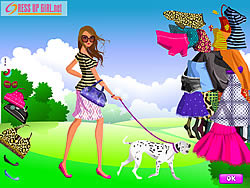 Girl and Pet Dress up game