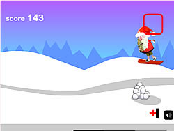 เล่นเกมฟรี Santa Snowboards