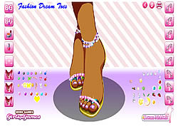 Gioca gratuitamente a Fashion Dream Toes
