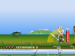 無料ゲームのYeti Sports (Part 5) - Flamingo Driveをプレイ