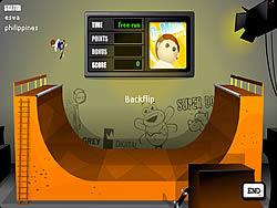 เล่นเกมฟรี Half Pipe Skateboarding