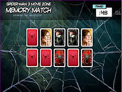 Spider-man 3 Memory Match игра