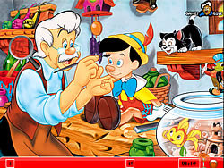 Hidden Numbers - Pinocchio game