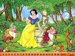 Game Hidden Numbers - Snow White