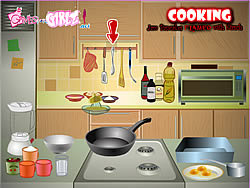 Cooking Jam Pancakes Flamed with Kirsch game