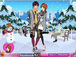 Winter Couple Dating game