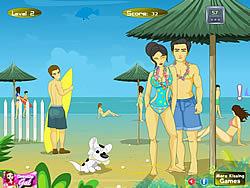 שחקו במשחק בחינם Hawaiian Beach Kiss