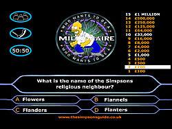 無料ゲームのSimpson's Millionaireをプレイ