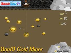 Juego Ben10 Gold Miner