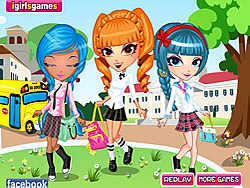 Gioca gratuitamente a Cutie Trend School Girl Group Dress Up