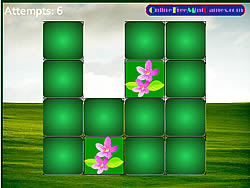 Springtime Flower Match game