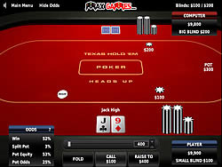 Permainan Texas Holdem Poker Heads Up