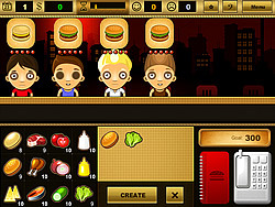 Permainan Burger Bar Game