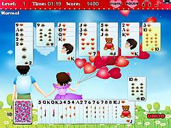 無料ゲームのGolf Solitaire - First Loveをプレイ