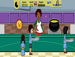 玩免费游戏 School Canteen