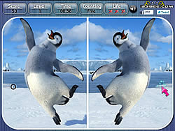 jeu Happy Feet Spot the Difference