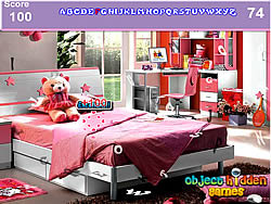 Game Girls Bedroom Hidden Alphabets