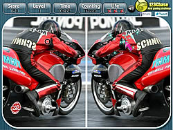 jeu Motoracing - Spot the Difference