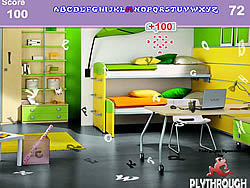 Game Ultra Modern Kids Bedroom Hidden Alphabets