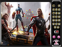 Avengers-Hidden Numbers game