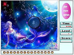 Jogar jogo grátis Little Mermaid Hidden Numbers