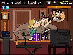 Game Mr Bean Kissing