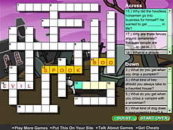Creepy Crossword game