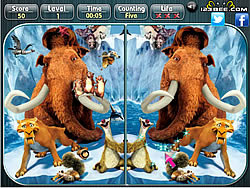 Ice Age 4 Find the Alphabets game