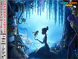 שחקו במשחק בחינם Princess and the Frog Hidden Alphabets