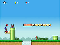 Juega al juego gratis Sonic Lost In Mario World