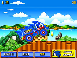 無料ゲームのSonic The Hedgehog Xtreme Truckをプレイ
