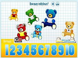 Game Kids Counting Teddy Bears