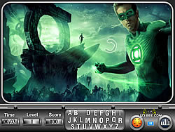Green Lantern Find the Alphabets