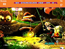 Cartoon Forest Hidden Alphabets Game