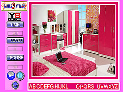 Game Lovely Pink Room Find the Alphabets