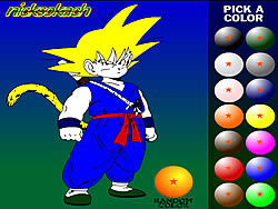 Dragon Ball Z Painting game