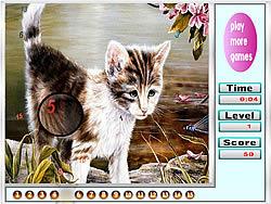 Jogar jogo grátis Melancholic cats hidden numbers