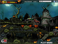 Game Halloween Graveyard Racing Y8