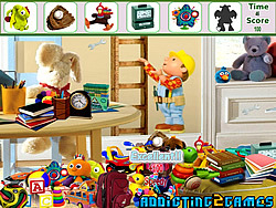 Kids Cartoon Room Hidden Object game