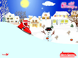 Game Santa Clause with Snowmobile