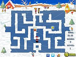Santa Skating Maze game