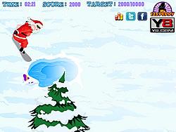Jogar jogo grátis Snowboarding Santa