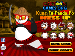 Game Kung Fu Po Dress Up