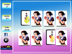 Snow White Memory game