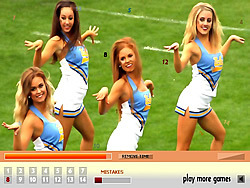 Cheerleaders Hidden Numbers game