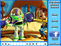 Game Toy Story Hidden Letters Game