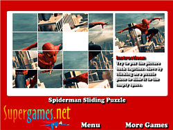 Spiderman Sliding Puzzles oyunu