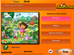 Game Dora The Exploer Quiz